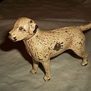 Vintage Cast Iron Dog Still Bank