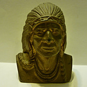 SALE Cast iron Bank-Indian Chief