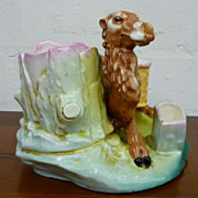 Porcelain Figural Camel Humidor, Cigarette & Match holder & Planter