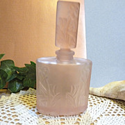 Perfume Bottle, Pink Frosted