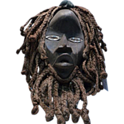 African Tribal Mask- Twine Hair