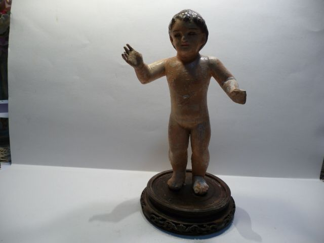 Antique Santos-1880 Italian Pottery Christ Child