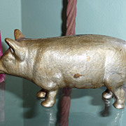 SALE Cast Iron Pig Bank