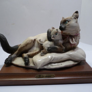 Giuseppe-Armani Cat and Kitten Figurine
