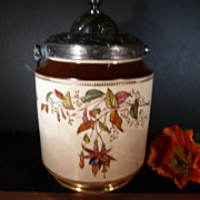 Vintage Fantastic Biscuit Jar with Ornate Lid