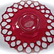 Westmorland Ruby Red Lattice Weave Edge Serving Plate