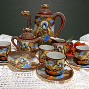 Vintage Satsuma Tea Set- Hotta Yu Shoten & Co 1920-40