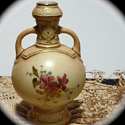 Royal Worcester Early 1900's Small Cabinet Vase
