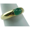 Vintage 14 K Yellow Gold Unisex Jade Ring