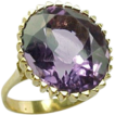 SALE Vintage 18 K Yellow Gold  7  Carat Amethyst Ring