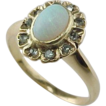 Late 1800's  Opal & Rose Cut Diamond Ring