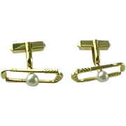 Vintage 14 K Golf Clubs And Ball Cuff Links