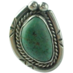 Native American Sterling Silver Carico Lake Turquoise Ring