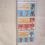 Vintage Topps 1961 Leaders Cards Set of 3