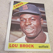 Vintage Baseball Card Lou Brock