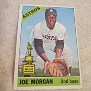 Vintage 1966 Baseball Card Joe Morgan