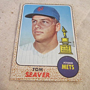 SALE Vintage Topps 1968 Tom Seaver Baseball Card #45