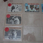 Vintage 1968 Misc. Topps Baseball Cards Set of 4