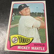Vintage 1965 Topps Baseball Card Mickey Mantle