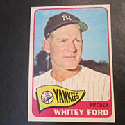 Vintage 1965 Topps Baseball Card Whitey Ford
