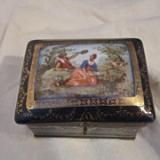 Vintage Box with Pastoral Scene Made in Germany