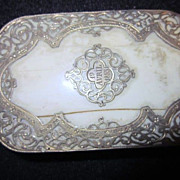 Antique Silver and Bone French Coin Purse