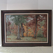 Oil on Canvas Painting of a Forrest Glen
