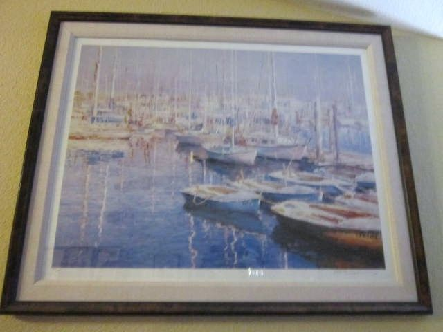 "Vintage Limited Edition Lithograph Print ""Fisherman's Bay"" By Chi-Leung-Yuen"
