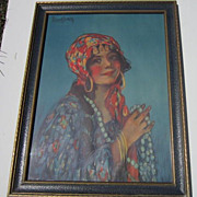 Vintage Print &quot;Zita&quot; from the Painting by M.E. Markham no. 1306