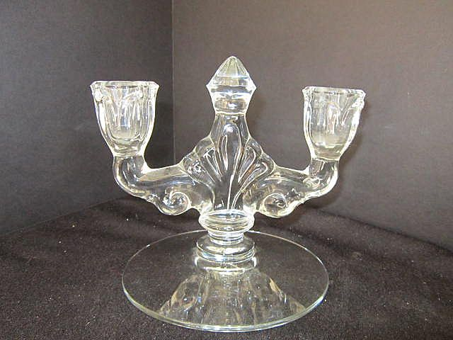 vintage glass double candle holder from somethingwonderful