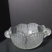 Vintage Mikasa Swan Crystal Bowl with Swan Handles