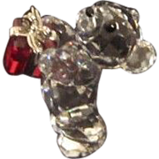 Vintage Swarovski Miniature Teddy Bear With Gift