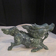 Vintage Carved Dragon/Horse
