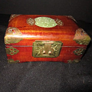 Vintage Mahogany Jewelry Box