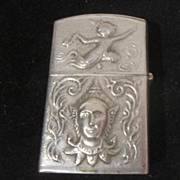Vintage Cigarette Lighter from Thailand with Siamese Dancers