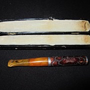 Vintage Bakelite Cigarette Holder with Case