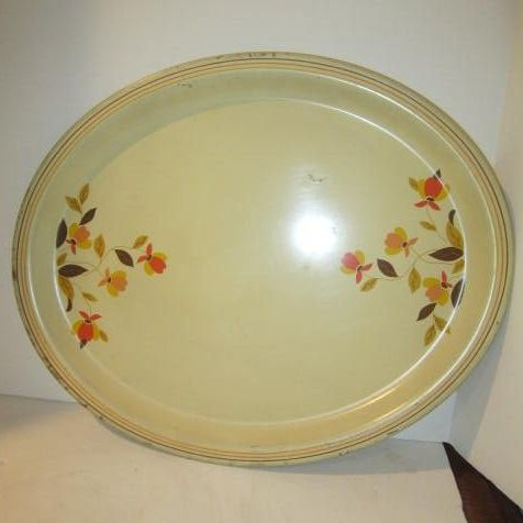 Vintage Jewel Tea Autumn Leaf Metal Tray by Hall China