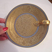 Vintage French Gold-Painted Over Gold Single Handle Dish