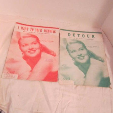 Patti Page Two Songs, Detour and I Went to Your Wedding Sheet Music