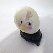 Vintage Porcelain Hand Decorated &quot;Chick&quot; Egg