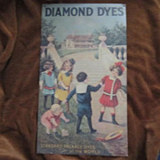 Vintage Tin Advertising Sign for Diamond Dyes