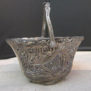 Vintage 1933 Chicago World's Fair Century of Progress Silver Plated Basket