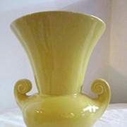 "Vintage McCoy 8""  Yellow Vase"