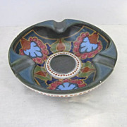 Vintage Gouda Pottery Ashtray from Ivora Factory