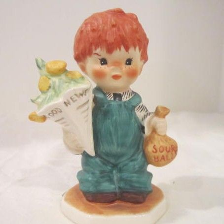 Vintage Goebel Red Headed Figurine from West Germany