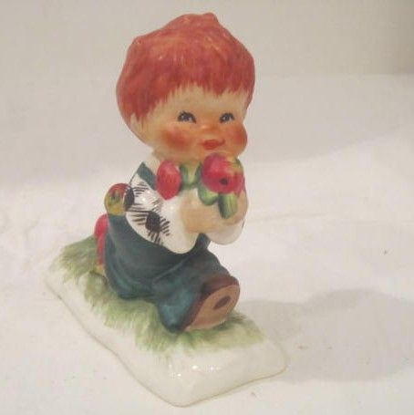 Vintage Red Headed Goebel Figurine from West Germany
