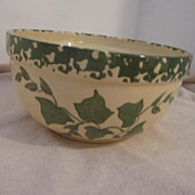 Vintage Large Mixing Bowl With Ivy Design