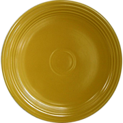 "Vintage Homer Laughlin Fiestaware Yellow 12"" Round Chop Plate"