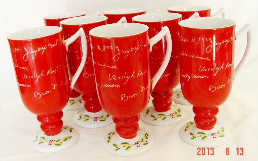 Christmas Eggnog Cups by Wales China - Made in Japan from threefrogs ...