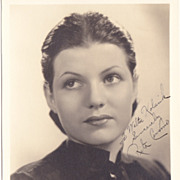 Rita Hayworth (Cansino) Authentic Vintage 1936 Signed Autograph Photo